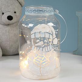 Schneemannglas Mit Der Schneecreme Gestalten